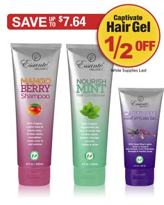 Sale: Mangoberry Shampoo & Mint Conditioner Buy Both Get Hair Gel 1/2 OFF
