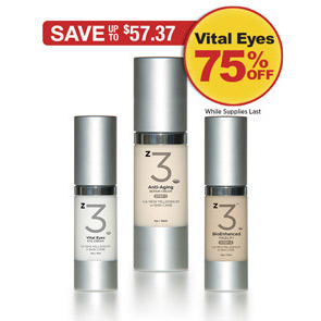 Sale: Buy z3 Step 1 & 2 get Vital Eyes Eye Cream for 75% off!