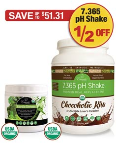 Sale: Buy 1 Earth Greens Powder get 1 Chocoholic Kiss half off!