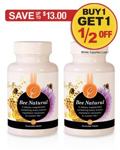 Sale: Buy 1 Bee Natural get 1 half off!