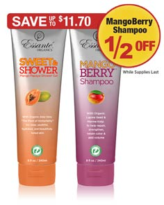 Sale: Shower Gel Buy 1 Get MangoBerry Shampoo 1/2 OFF