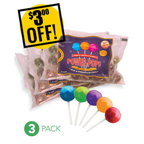 Web Offer: Power Pops ANY 3 BAGS<br>$3 OFF!