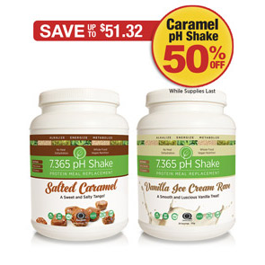 Sale: Buy Salted Caramel pH Protein Shake get Chocolate half off