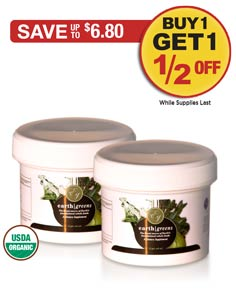 Special: Buy 1 Earth Greens Powder Sample (6 servings) get 1 FREE!