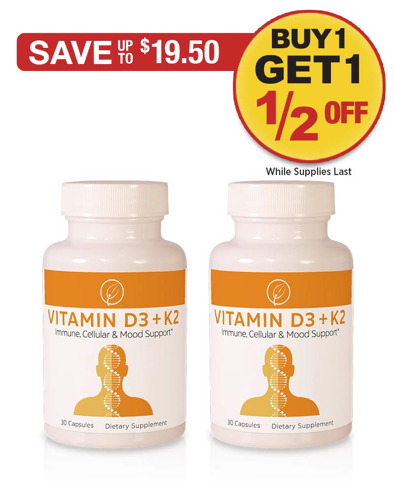 Sale: BOGO 1/2 OFF Vitamin D3 & K2