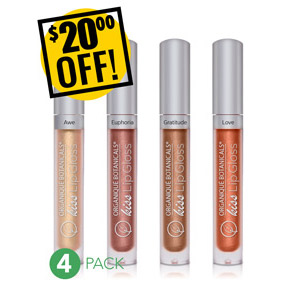 LIP GLOSS DISCOUNTED PACK All 4 Colors SAVE $20.00 USD