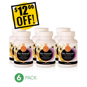 A DISCOUNTED PACK<br>6 Bee Naturals<br>$12 OFF!