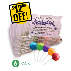 Web Offer: Kids Pops ANY 6 BAGS<br>$12 OFF!