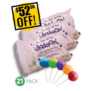 Web Offer: Kids Pops ANY 21 BAGS - DISCOUNTED PACK SAVE $52.50 USD
