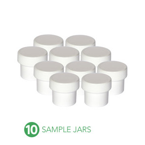 Tools: 10 Empty Sample Jars (2oz ea.)