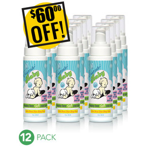 A DISCOUNTED PACK<br>12 Baby Shampoo & Body Foams<br>Expo or Store Front Pack<br>$60 OFF!