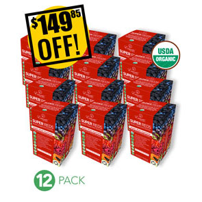 A DISCOUNTED PACK<br>12 Pack Super Reds Boxes of SachetsExpo or Store Front Pack<br>$149.85 OFF!