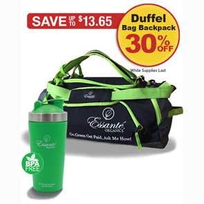 Sale: Buy 1 Stainless Water Bottle get 1 Duffel Bag / Backpack 30% off!