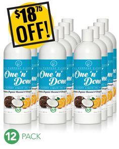 12 One 'n' Done All Purpose Cleaner & Laundry Liquid 16oz