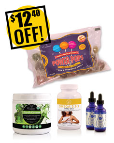 A DISCOUNTED PACK<br>Greens, Drops, Omegas & Pops<br>Includes 2 Supreme pH<br>$12.40 OFF!