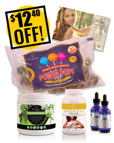 A DISCOUNTED PACK Greens, Drops, Omegas & Pops $12.40 OFF